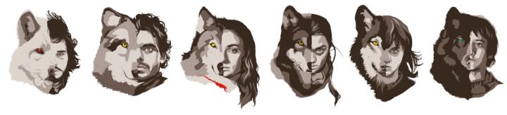 Lobos de la Casa Stark (Brian J. Smith).