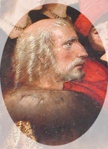 Retrato de Cristóbal Colón en el retablo sevillano de la Virgen de los Navegantes (Alejo Fernández, c. 1531-36).