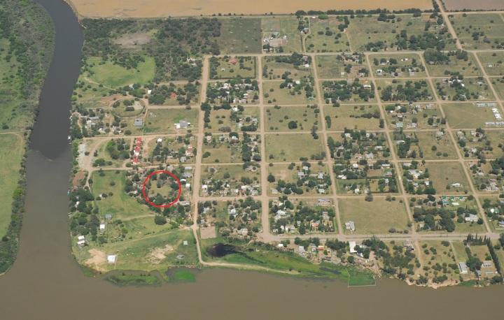 Situación del yacimiento en la localidad de Puerto Caboto (Fortalezas.org)