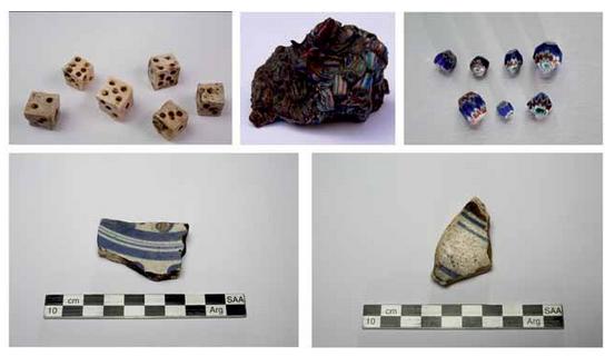 Algunos de los materiales europeos recuperados (Gustavo Frittegotto)