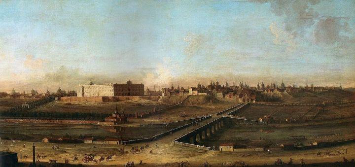 Vista de Madrid con el Palacio Real (Antonio Joli, 1753)
