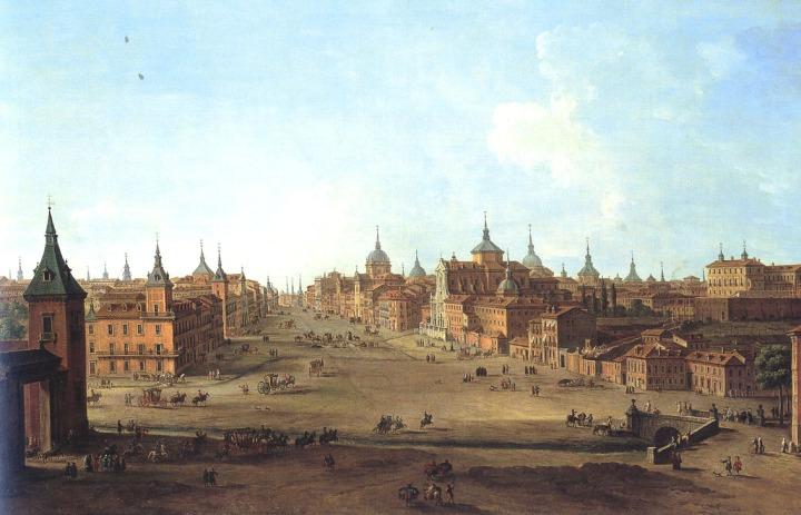 Vista de la Calle Alcalá de Madrid (Antonio Joli, 1750)