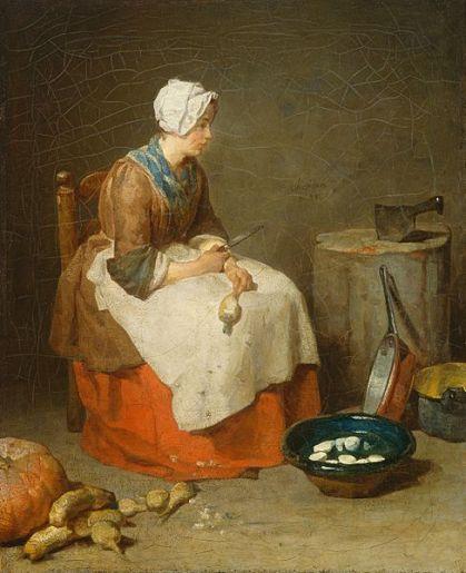 La sirvienta (Jean-Baptiste Simeon Chardin, 1738)