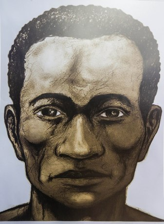 Retrato de Alonso de Illescas encargado por el Gobierno ecuatoriano en 2018 (Carlos Rodríguez/ANDES)