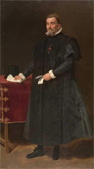 Oidores es el nombre que recibían los jueces de las Reales Audiencias o Chancillerías castellanas. En la imagen, el retrato que le hizo Velázquez a don Diego del Corral y Arellano, oidor del Consejo de Castilla (1627)