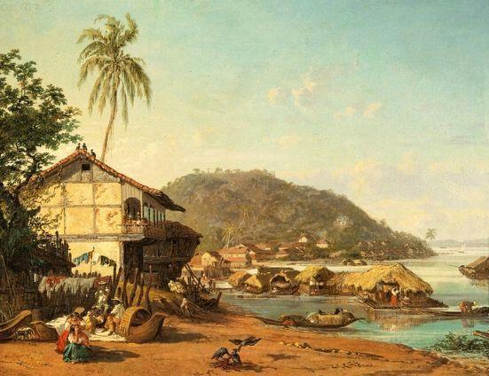 Puerto de Guayaquil (Ernest Charton, 1850)