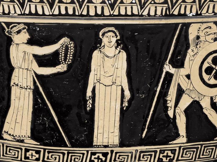 Pandora siendo admirada por los dioses (British Museum)