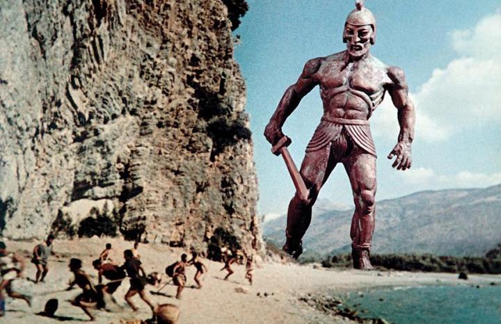 El Talos creado por Ray Harryhausen para la película Jasón y los argonautas de 1963