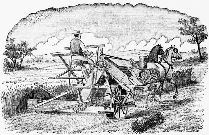 Publicidad de la cosechadora McCormick