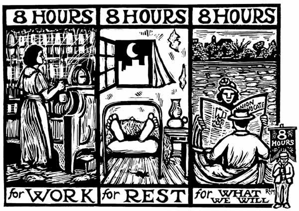Cartel por la jornada de ocho horas